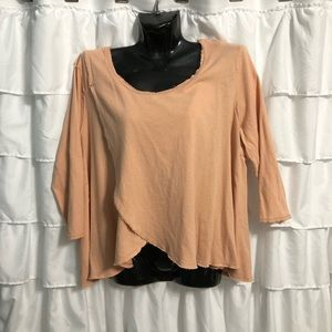 We the free people peach 3/4 sleeve top L